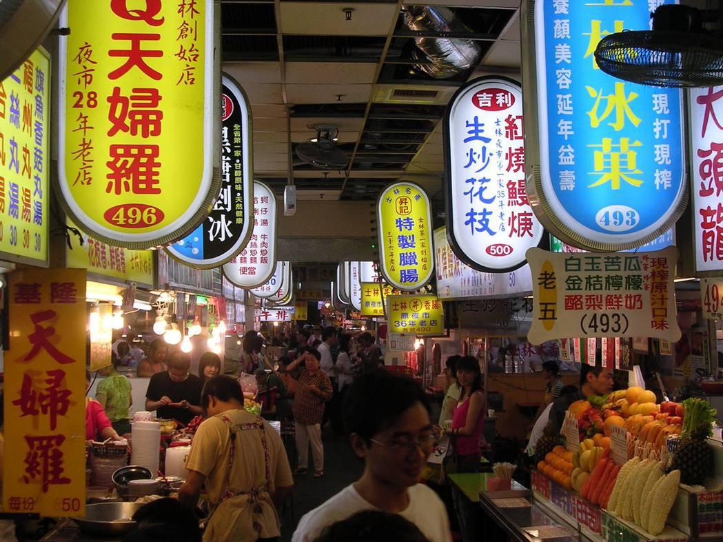 在兩岸相當知名的台北市士林市場。擷取自維基百科