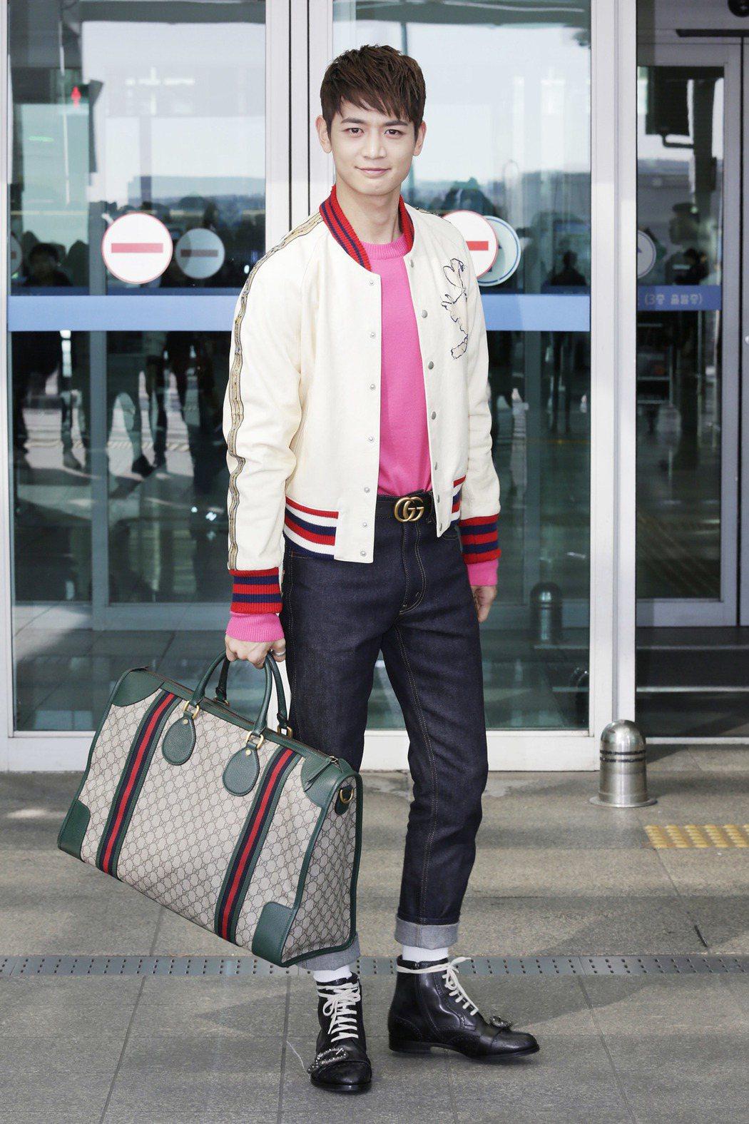 珉豪提帶 Gucci Neo Vintage 旅行袋。圖/Gucci提供
