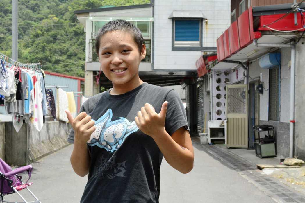 泰雅族女孩小雲長期受展望會愛心人士資助,未來想投筆從戎當花木蘭。圖/台灣世界展望...
