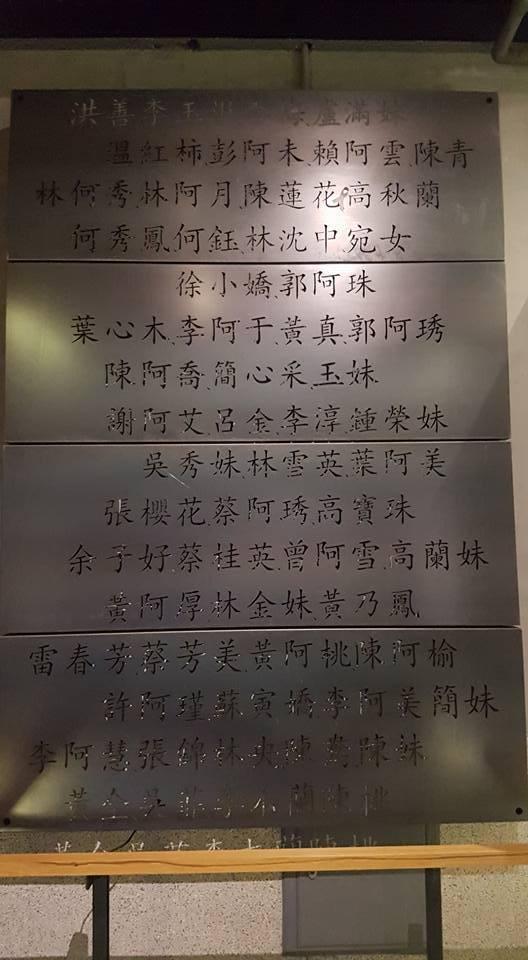 館內收錄了二戰期間受害的慰安婦姓名。記者吳佩旻/攝影