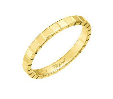 Ice Cube Pure系列「公平採礦」認證 18K 黃金戒指,29,000元...