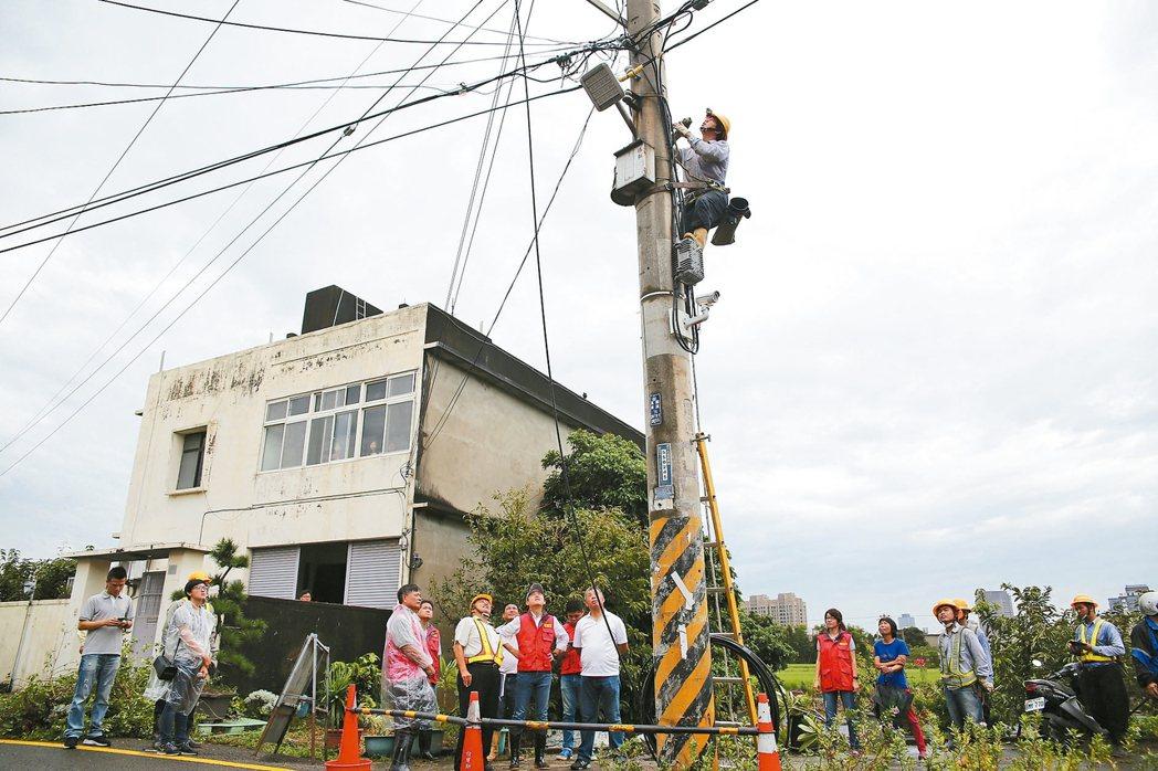 新竹市進行電纜電線地下化,預計投入逾9千萬元。 圖/新竹市府提供