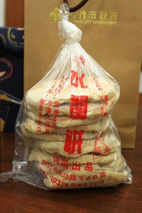 竹市水潤餅外包裝原本長這樣。 記者郭政芬/攝影