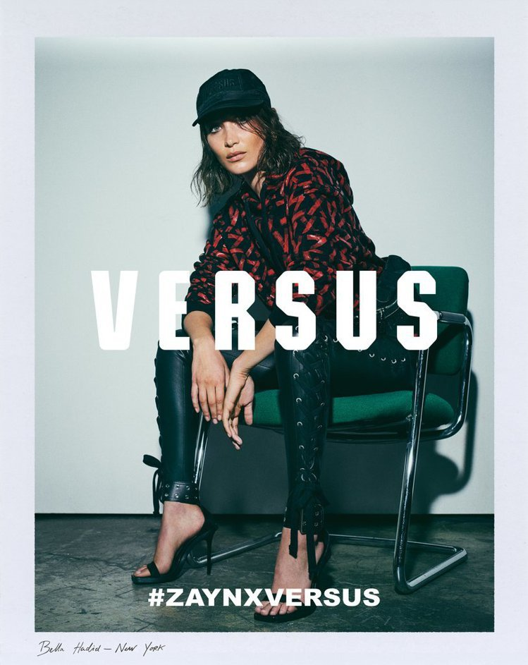 貝拉哈蒂德是Zayn X Versus系列的廣告模特兒。圖/Versus Ver...