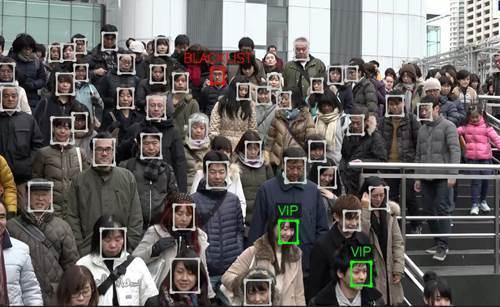 圖一、NEC動態影像人臉辨識技術示意圖 (圖片來源:NEC)