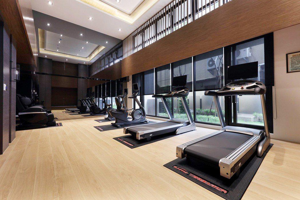 社區健身房。 圖片提供/華友聯開發