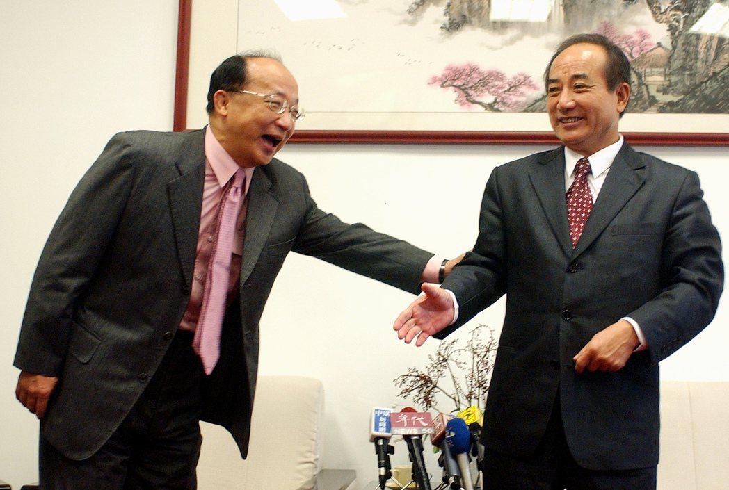 國民黨副主席人事布局,現任副主席胡志強(左)、立法院前院長王金平(右)都不在準主...