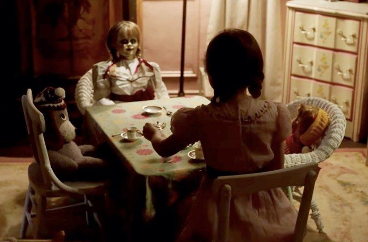 全台近10家影城放映「安娜貝爾:造孽」被停電給意外中斷。圖/華納兄弟提供