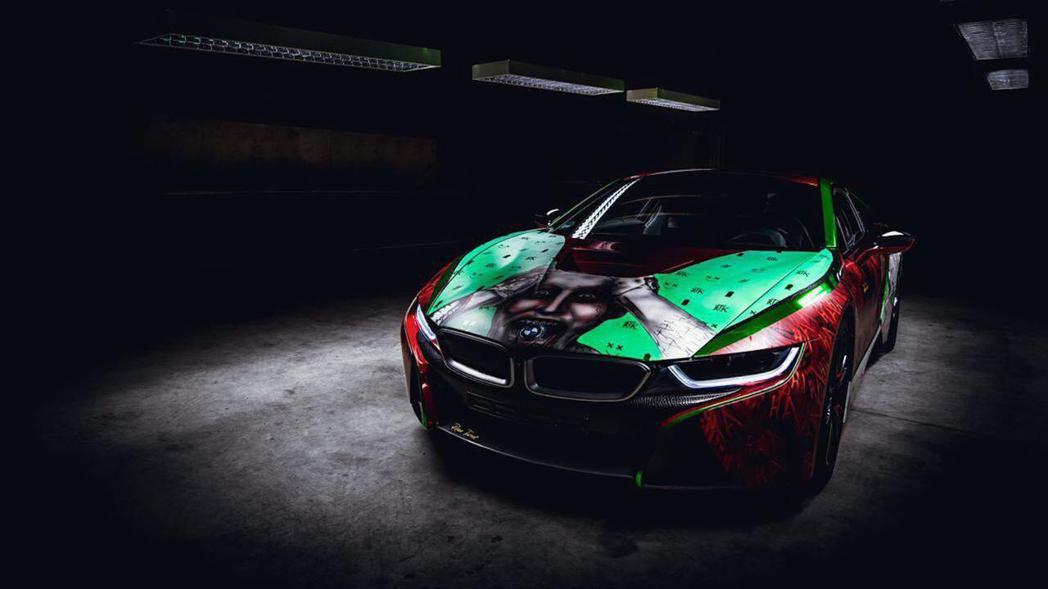 這輛Joker BMW i8由德國藝術家René Turrek所打造。 摘自Motor 1