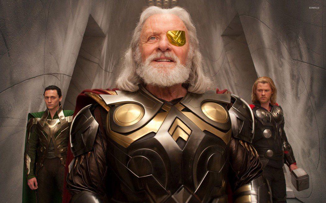 在「雷神索爾」系列中,奧丁由安東尼霍普金斯主演。圖/博偉提供