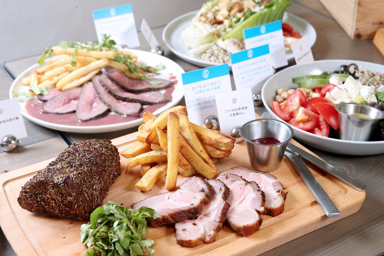 雄獅集團餐廳gonna72小時茴香慢烤活菌豬(前)。記者余承翰/攝影