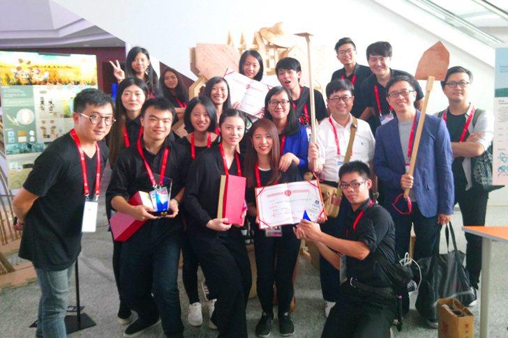 室內設計系作品《米-粒粒皆辛苦》獲頒優秀獎。 中國科大/提供