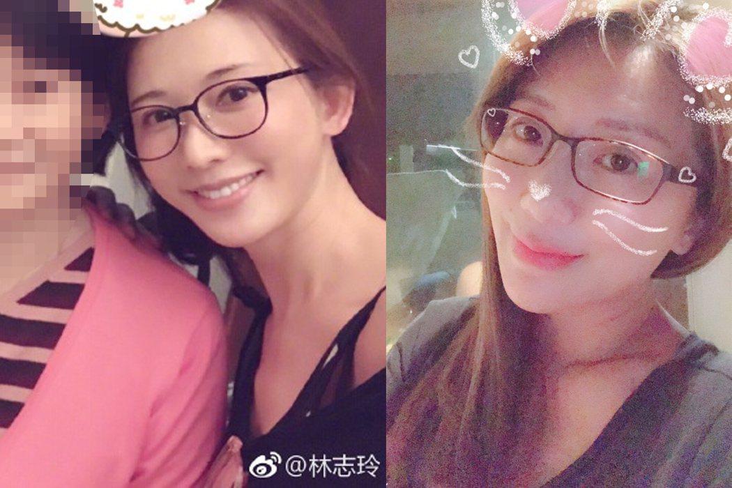 圖/擷自林志玲、佩甄臉書。