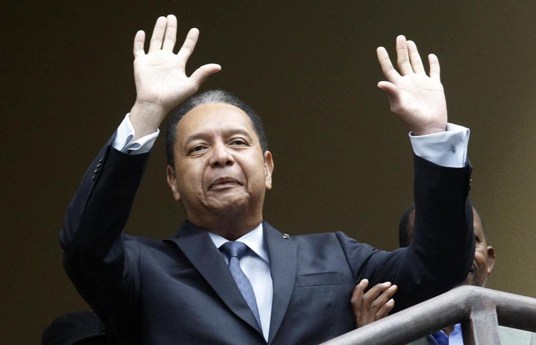 海地前獨裁者杜華利。  路透