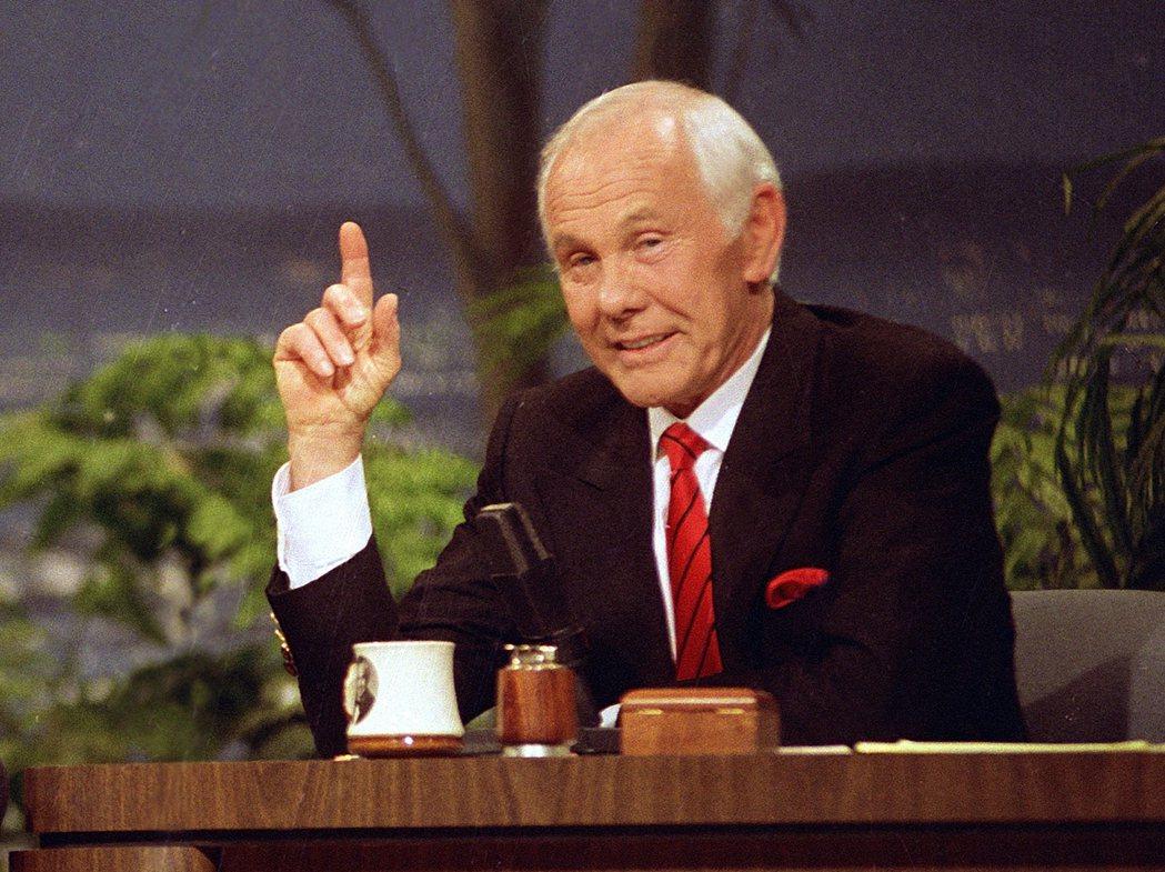 美國知名談話節目主持人強尼卡森。  美聯社