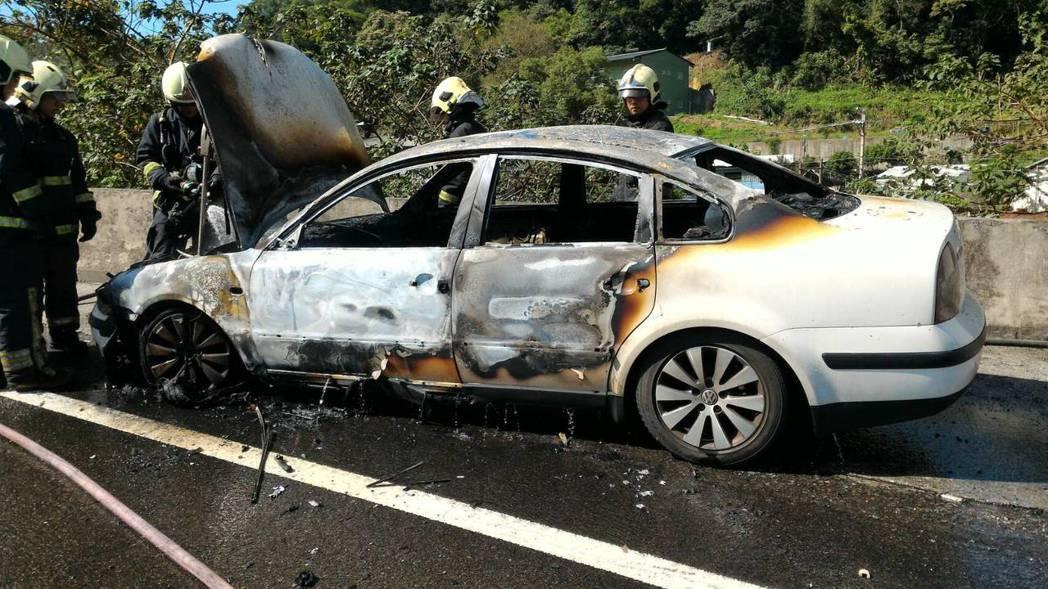 據統計資料分析,國道一號北部路段自燃發生率最高。 記者林昭彰/翻攝