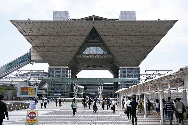 位於東京有明的會展中心,三角形的輪廓相當醒目。