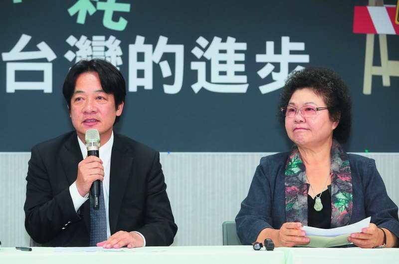 相對今年很旺的賴清德(左),陳菊(右)有許多事情煩心。 攝影/柯承惠