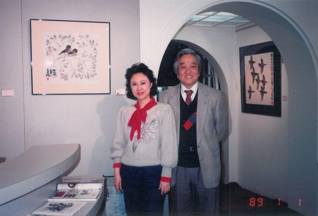 瓊瑤和平鑫濤(右)已結婚39年。圖/瓊瑤提供