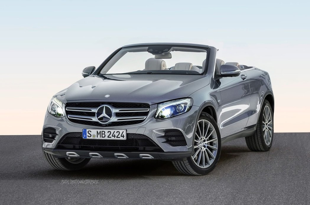 Mercedes-Benz GLC敞篷車型合成圖。圖/摘自kamenistiak.blogspot.tw