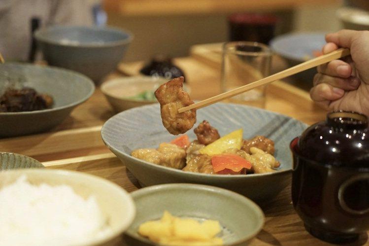 泔 米食堂用簡單的三菜一湯串起家常好滋味。圖/顧瑋提供