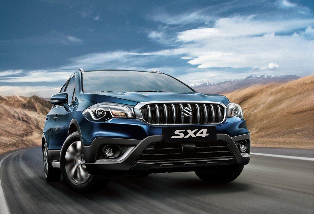 NEW SX4 結合掀背車與小型休旅的優點,並整合多項安全防護。 Taiwan Suzuki 提供