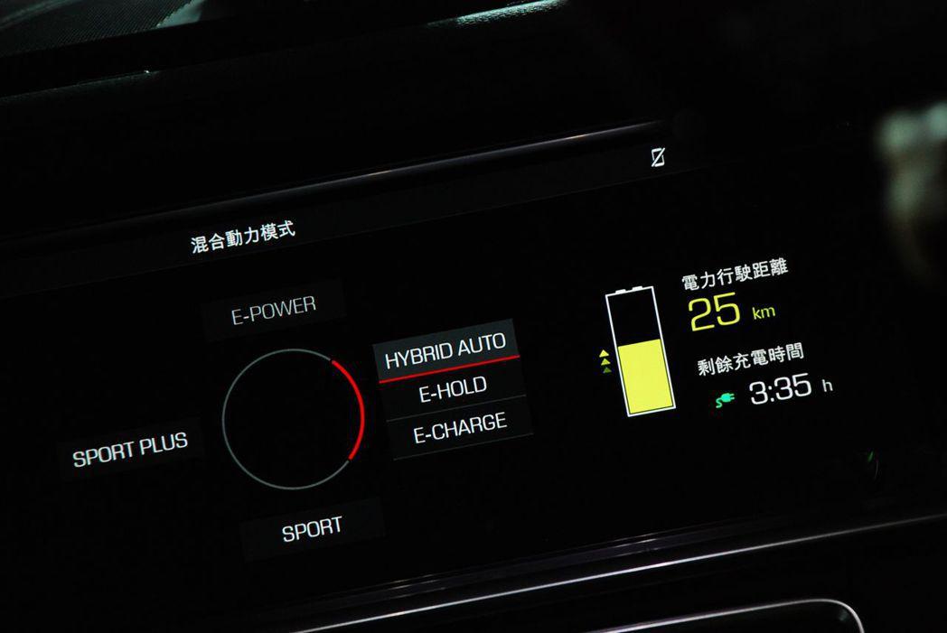 Panamera 4 E-Hybrid動力混合模式。記者林昱丞/攝影