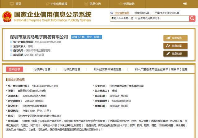 「深圳市草泥馬電小商務有限公司」等等企業怪名,看了不禁令人莞爾。 圖/摘自網路