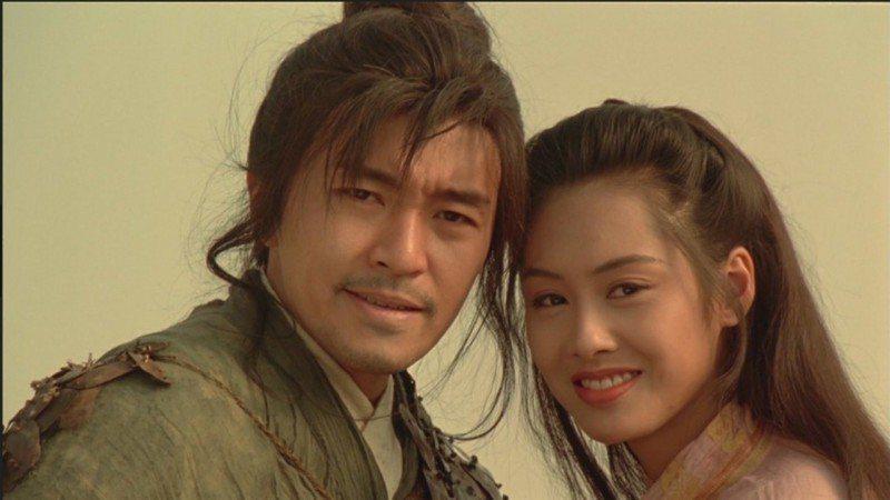 周星馳(左)、朱茵(右)曾有一段舊情。圖/翻攝自Youtube