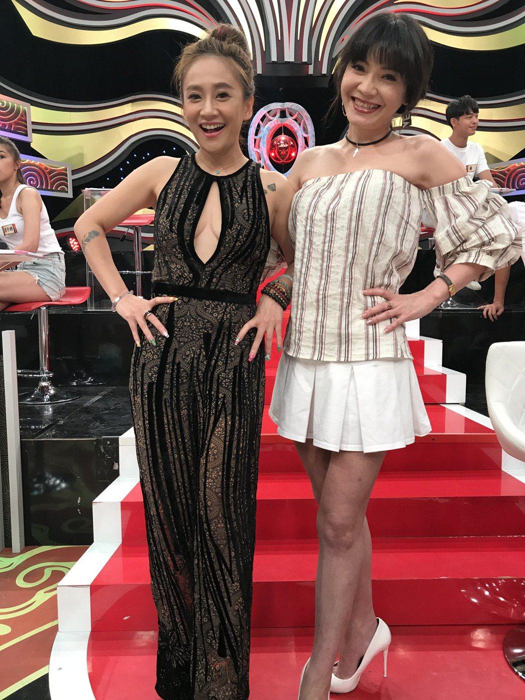 林秀琴跟甄莉。記者葉君遠攝影