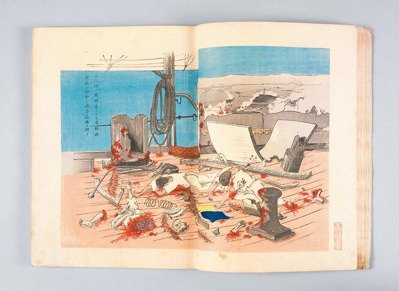 圖5:北洋艦隊平遠艦發砲擊中松島艦。 周密/圖片提供