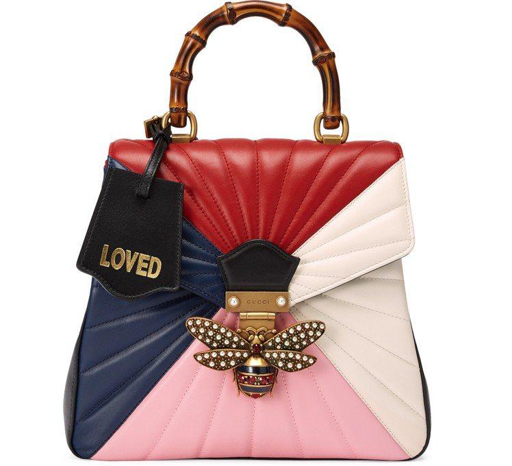 多色拼接QUEEN MARGARET包,10萬2,800元。圖/Gucci提供