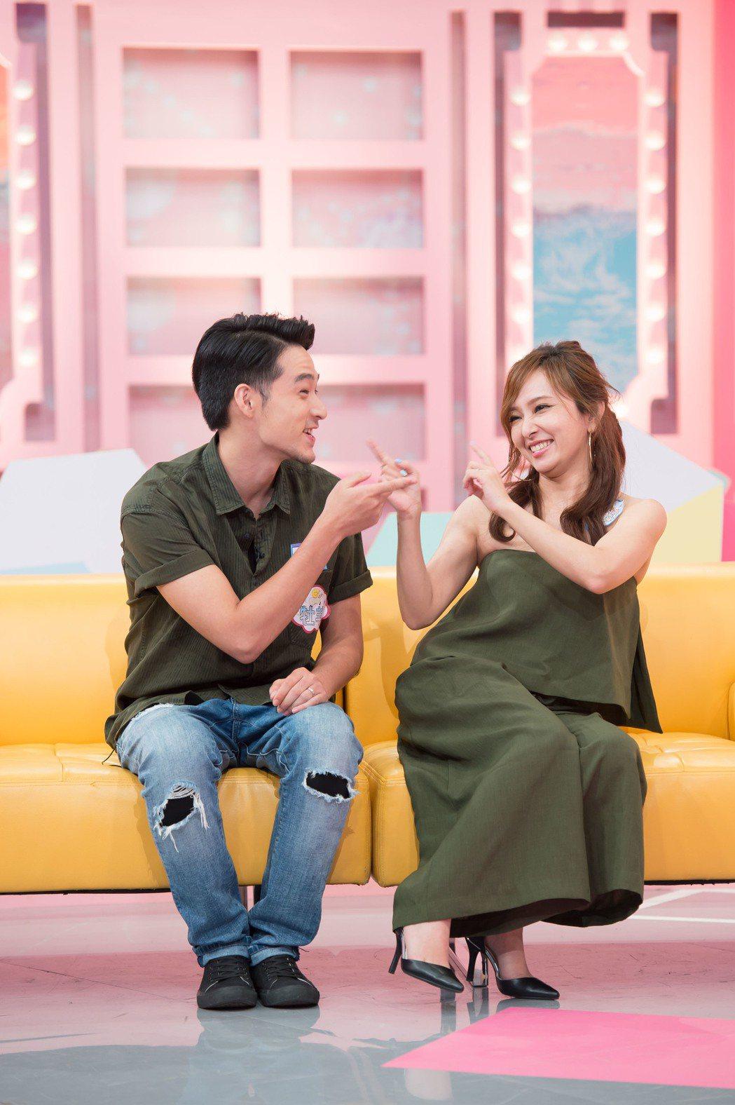 愛紗夫妻正在新婚甜蜜期。圖/TVBS提供
