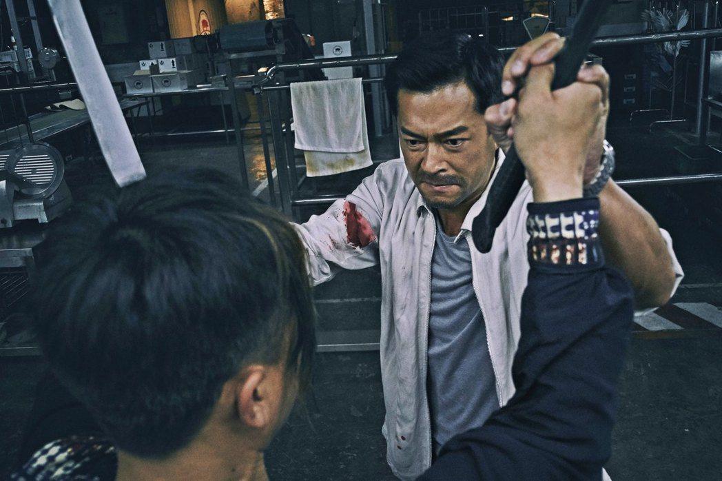 古天樂在「殺破狼‧貪狼」打鬥動作場面不斷。圖/双喜提供