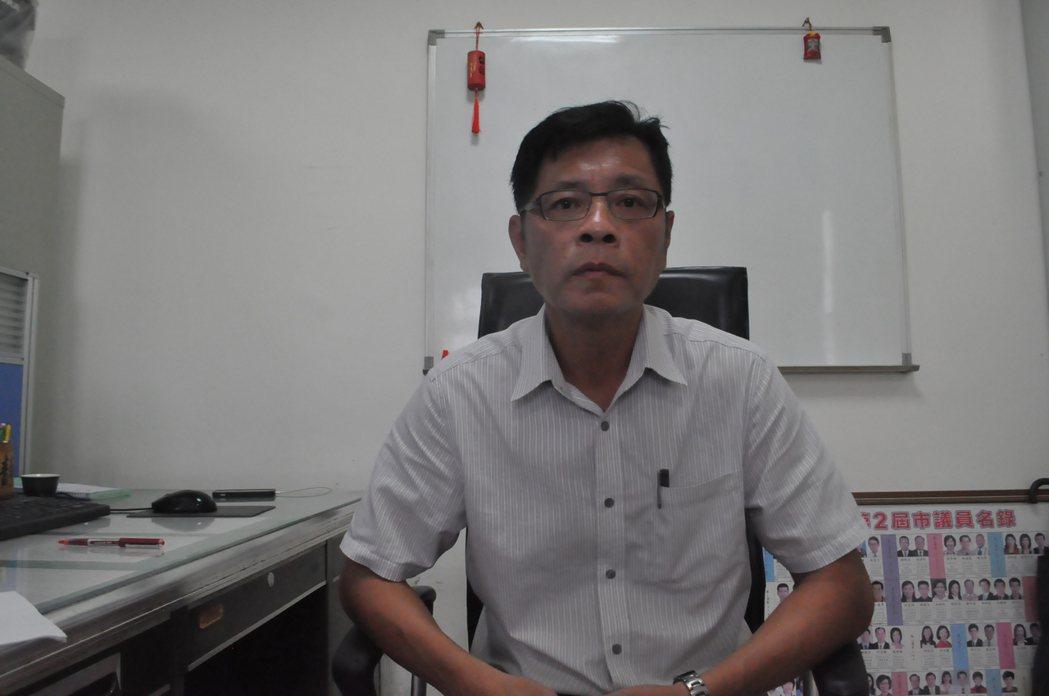 台南市刑大偵二隊長黃文夏。 記者黃宣翰/攝影