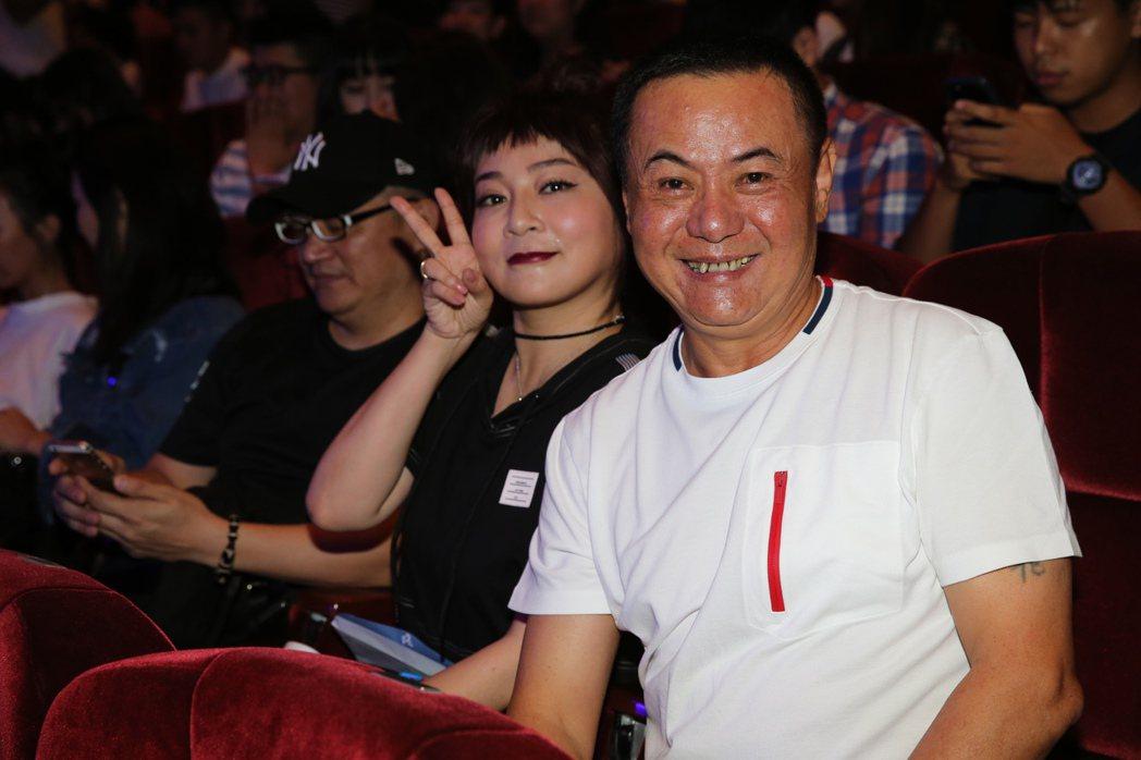 在《花甲》中飾演他爸媽的蔡振南及王彩樺也到場力挺。記者徐兆玄/攝影