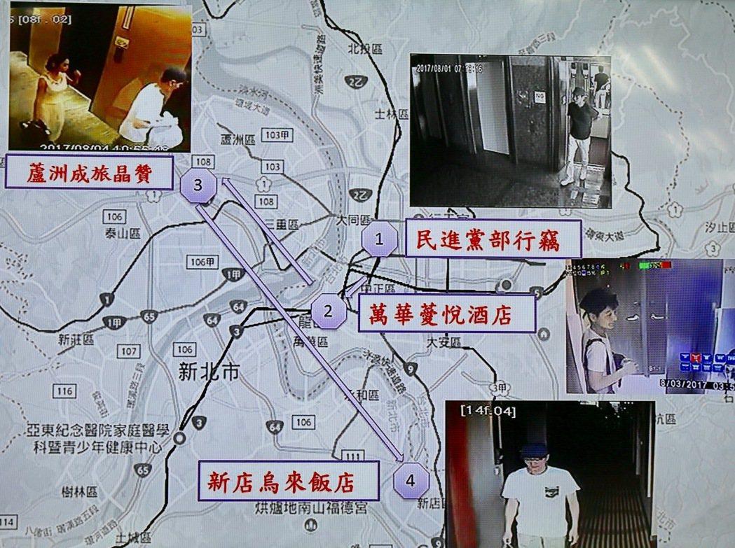 涉嫌行竊民進黨黨部的34歲南韓籍男子趙準基,在烏來落網,刑事局破案記者會公布趙嫌...
