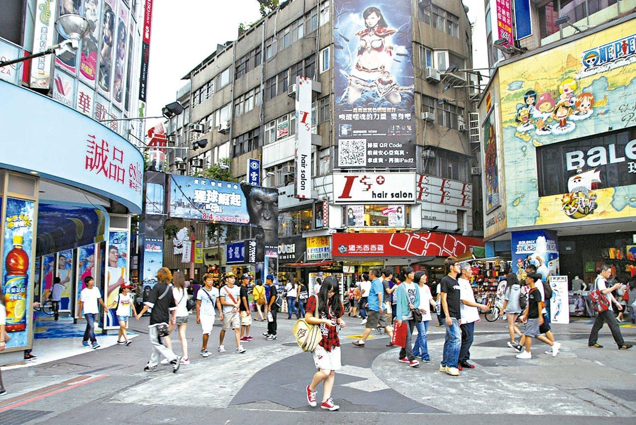 2016年以來台北各商圈的店面交易量,以「西門商圈」最多。 本報系資料庫