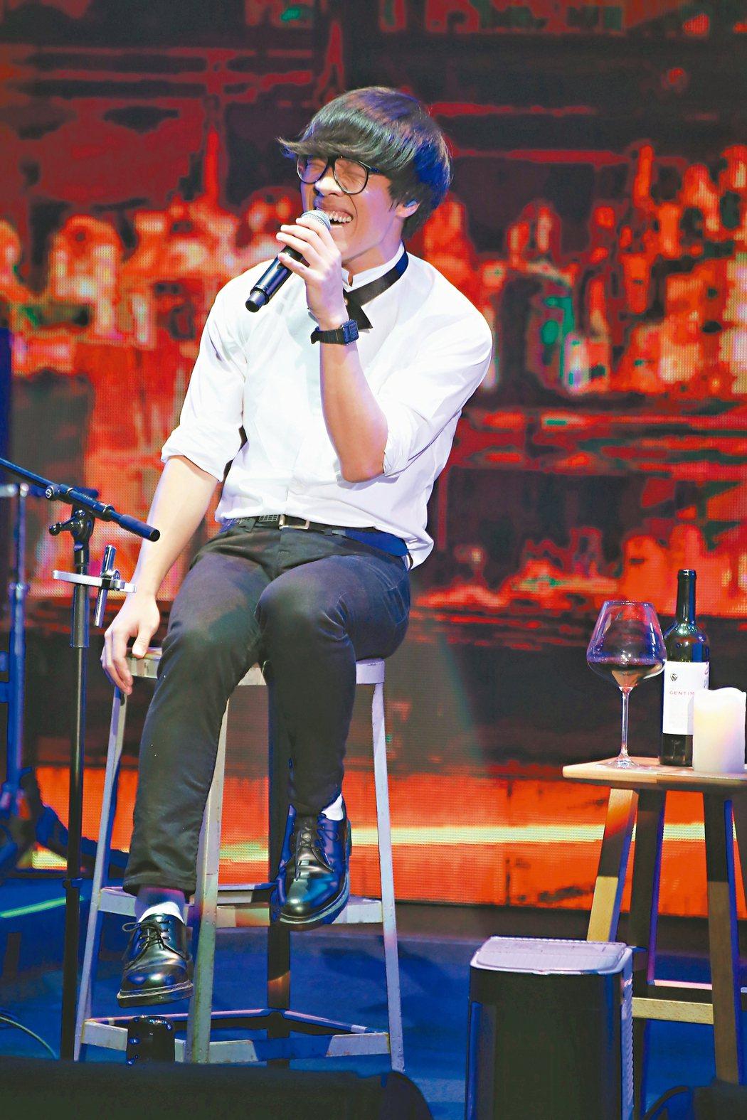 盧廣仲於台北國際會議中心舉辦個人演唱會。 記者陳立凱/攝影
