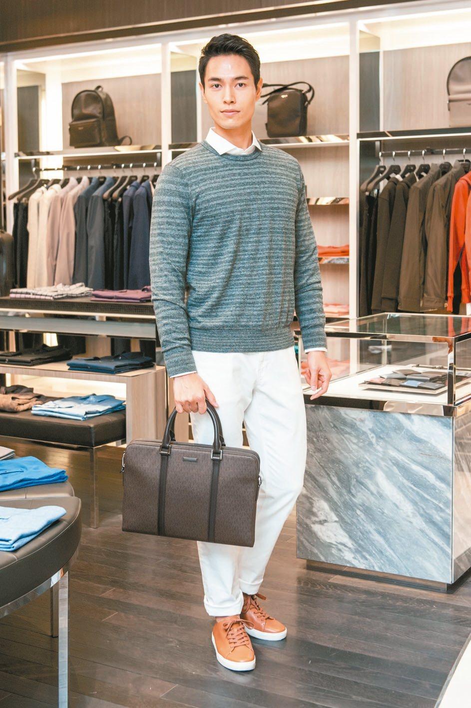 Michael Kors秋冬系列男裝,結合俐落的剪裁和高質感面料,延續品牌Jet Set摩登旅行的概念。