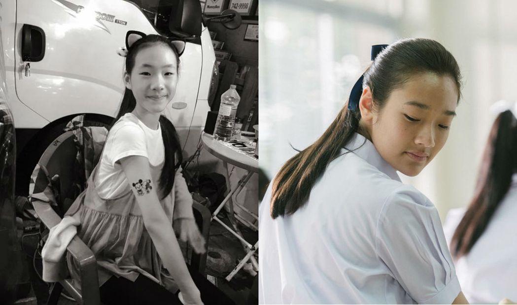 小S的女兒(左)與電影「模犯生」女主角(右)很相似。 左圖/擷自小S臉書,右圖/