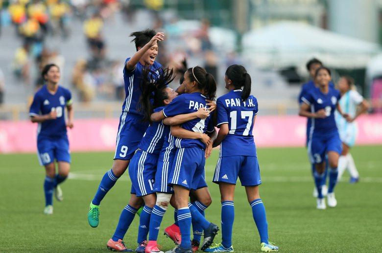 圖為8月18日中華女足對戰阿根廷,最終中華隊以3:0擊敗對手。 圖/聯合報系資料...