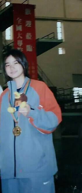 小小瑜曾獲得全大運200公尺蝶式金牌。 圖/擷自小小瑜臉書