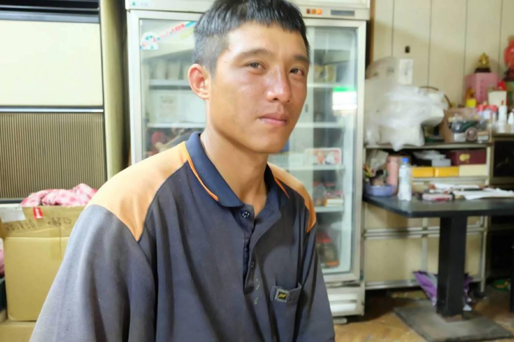 33歲羅煒翔有個念國小的孩子,犧牲父親節修電塔,他特別想念在苗栗的妻小。 圖/本...