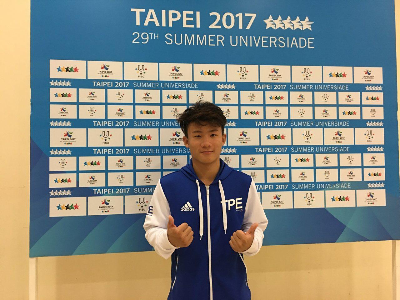 中華跳水隊唯一的男子代表林昀蒂,今天完成世大運初體驗。 記者曾思儒/攝影