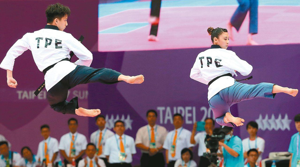 世界跆拳道品勢錦標賽明天登場,中華隊這次共有61名選手參賽。 聯合報系資料照