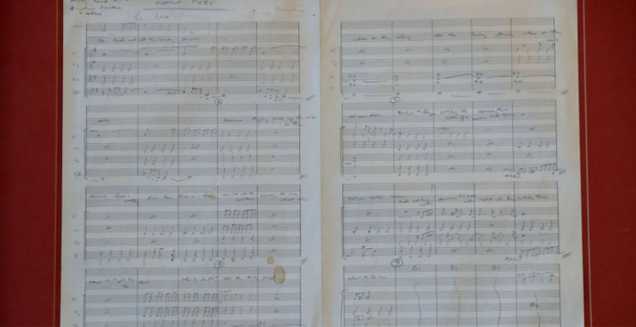 披頭四1966年歌曲Eleanor Rigby原始手寫樂譜。 圖片來源/「new
