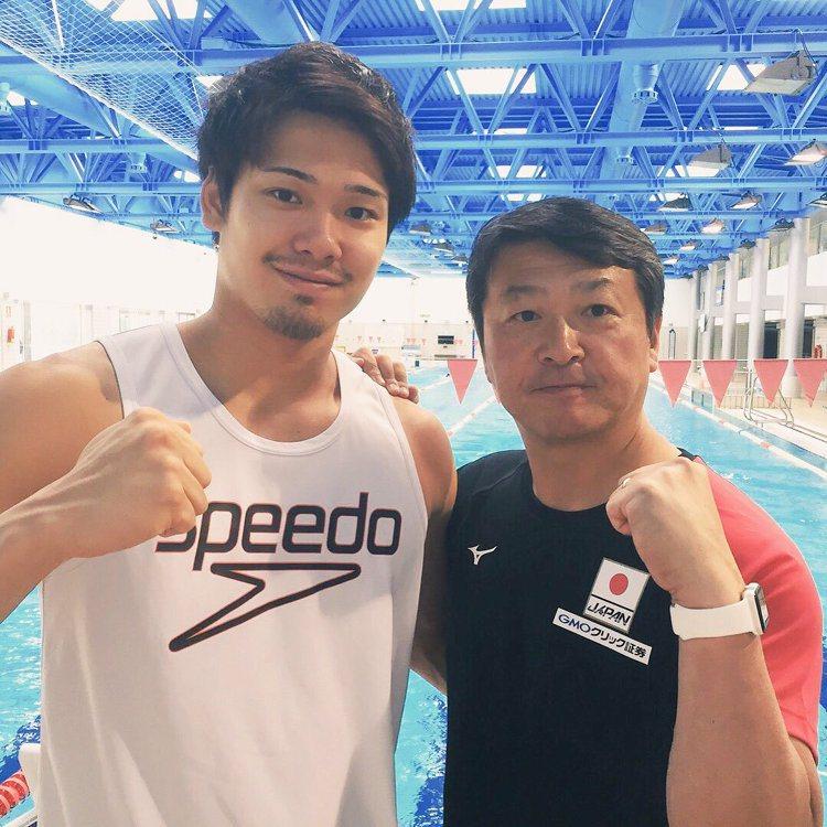 日本游泳選手中村克。圖/擷自twitter
