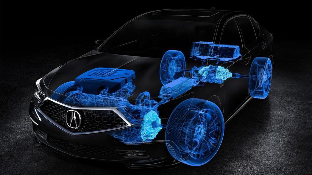 3.5升V6 Hybrid油電混合系統,擁有電動馬達與SH-AWD四輪驅動配置。 圖片摘自:Acura