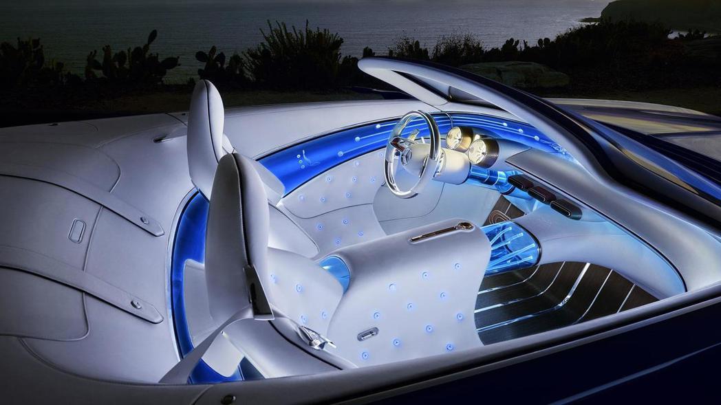 充滿濃濃海洋風,極力打造路上奢華遊艇。 圖片來源:Mercedes-Benz